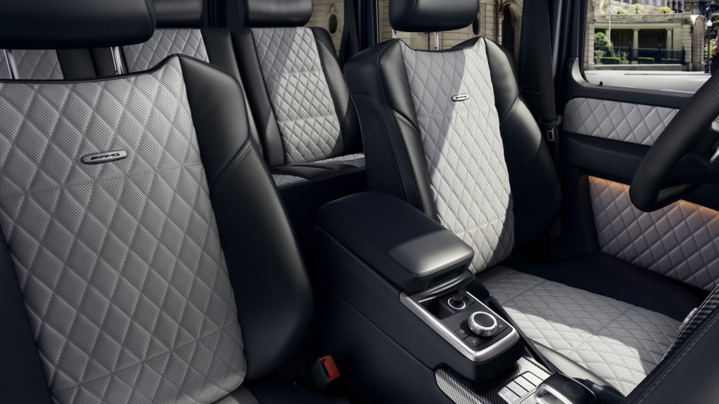 Mercedes-AMG G63 interior seats grey gray leather quilted