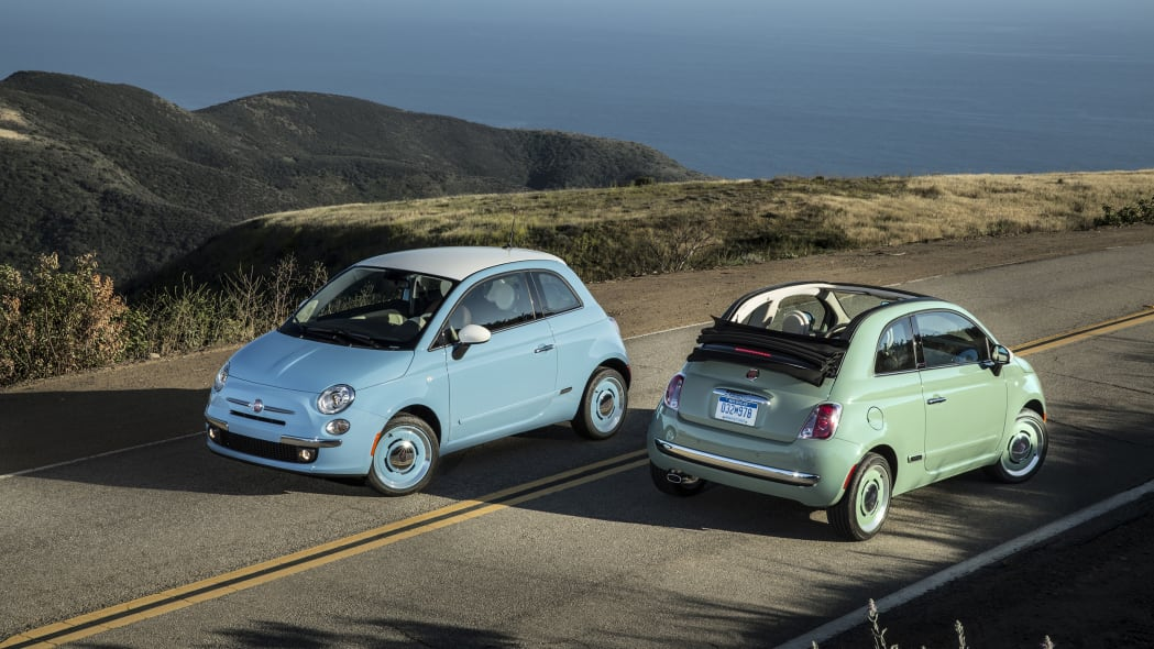 2015 Fiat 500C 1957 Edition at the ocean