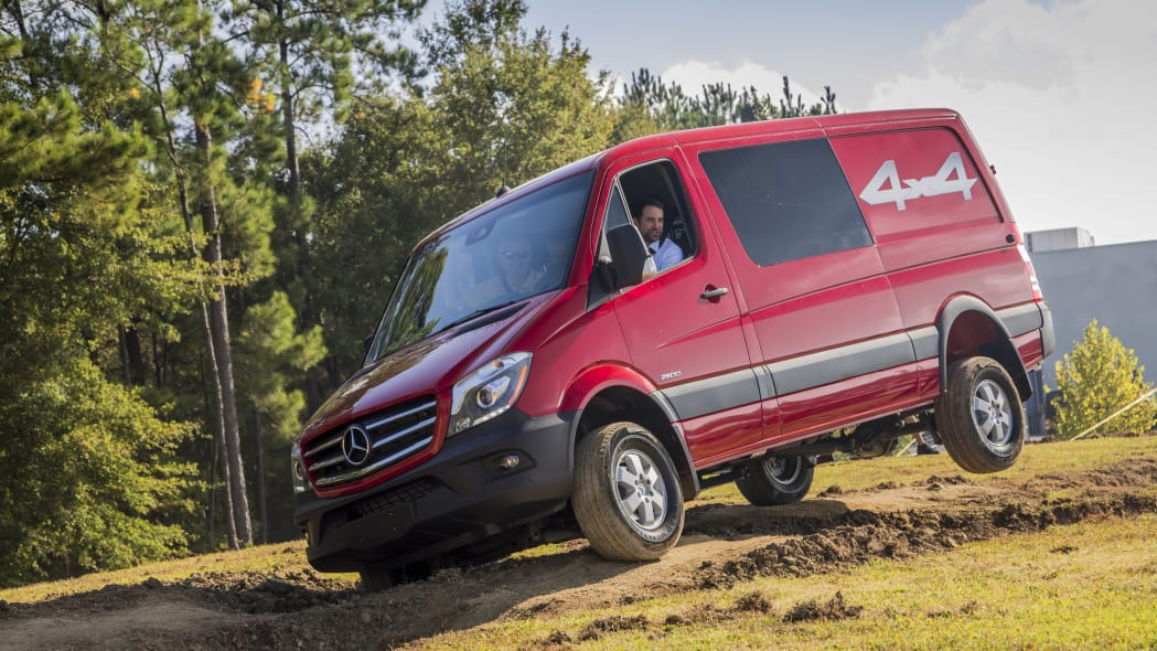 Mercedes Sprinter 4x4 in red off road