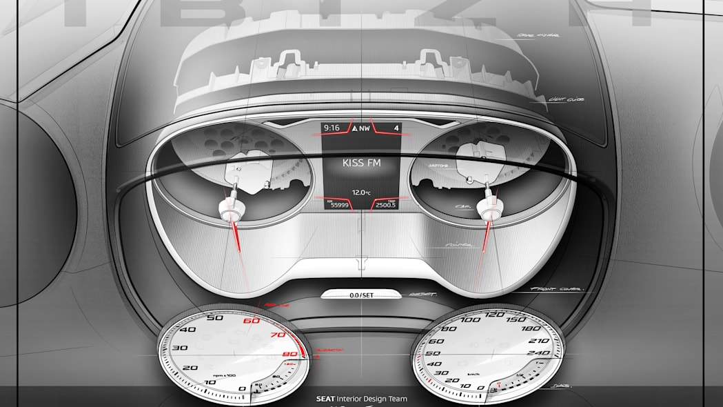 2016 Seat Ibiza instrument cluster rendering