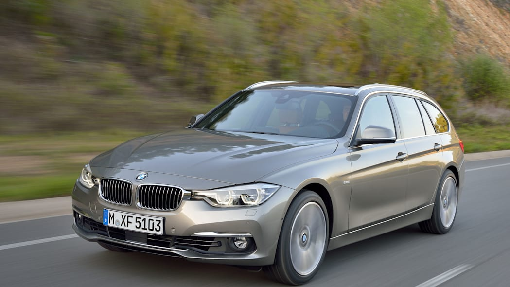 beige 2016 bmw 3 series wagon refresh front