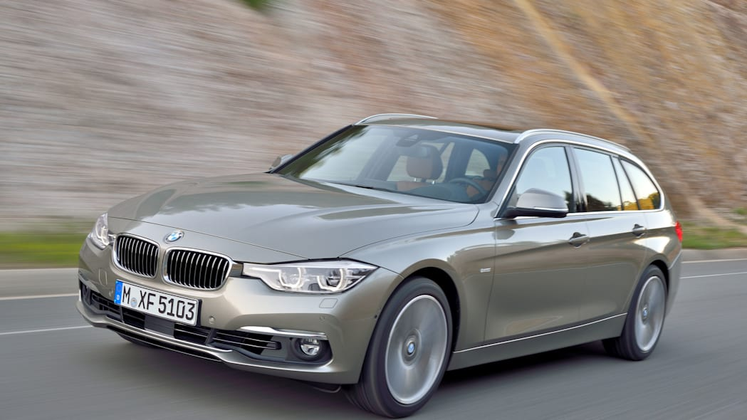 beige 2016 bmw 3 series wagon refresh front end