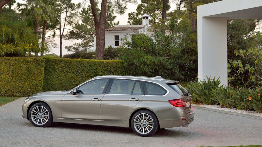 beige 2016 bmw 3 series wagon refresh side
