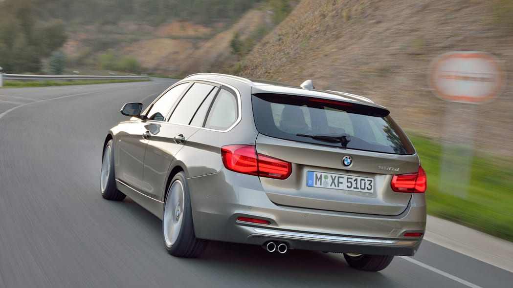 beige 2016 bmw 3 series wagon refresh back end