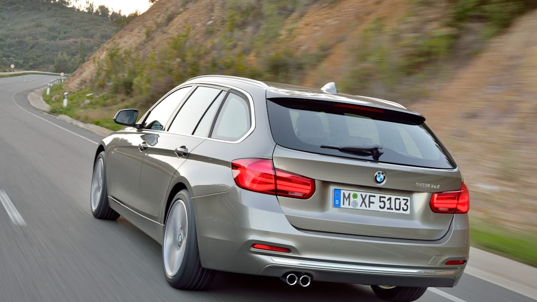 beige 2016 bmw 3 series wagon refresh taillights