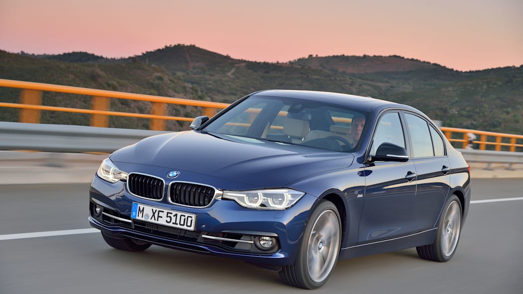 blue 2016 bmw 3 series refresh front