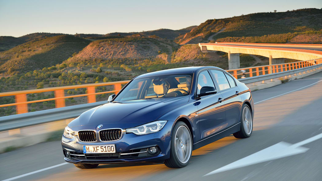 blue 2016 bmw 3 series refresh new headlights