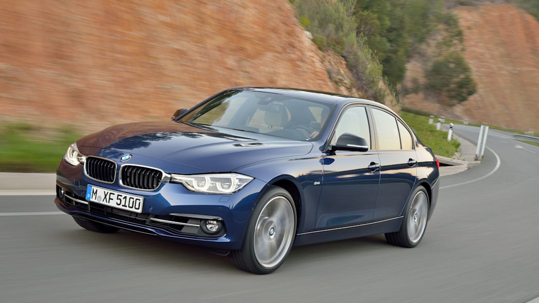 blue 2016 bmw 3 series refresh curvy road