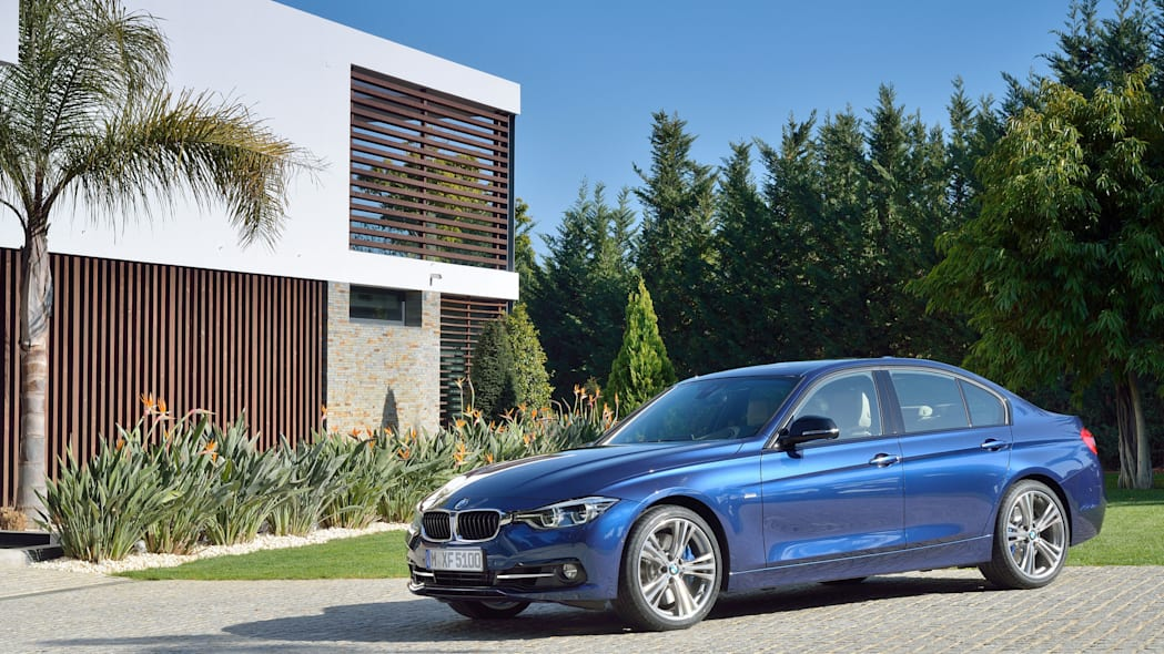 blue 2016 bmw 3 series refresh profile
