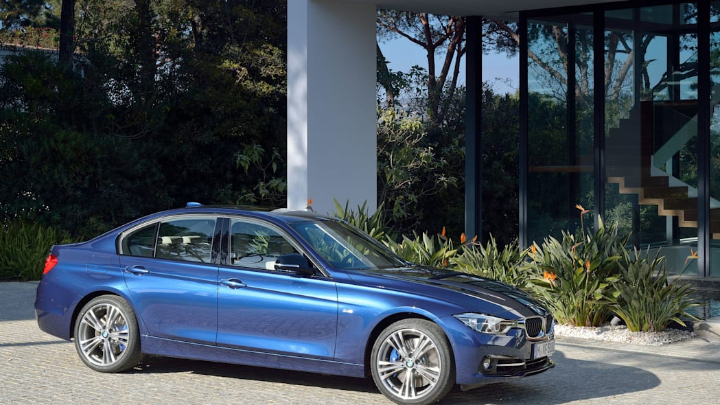 blue 2016 bmw 3 series refresh side
