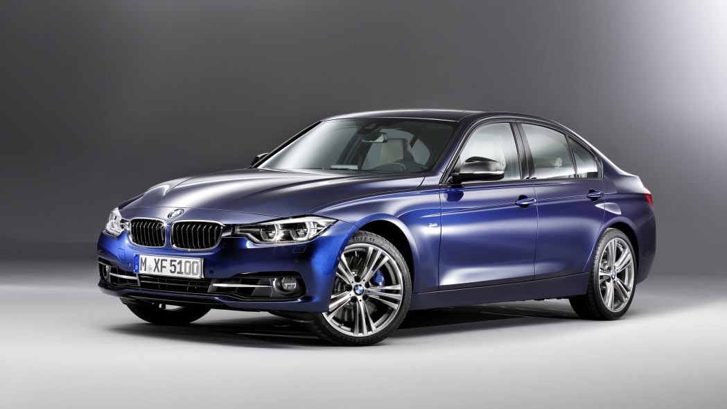 blue 2016 bmw 3 series refresh studio shot