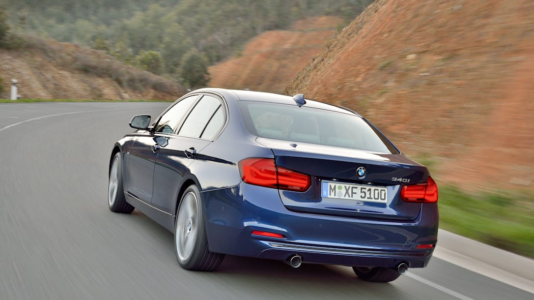 blue 2016 bmw 3 series refresh back