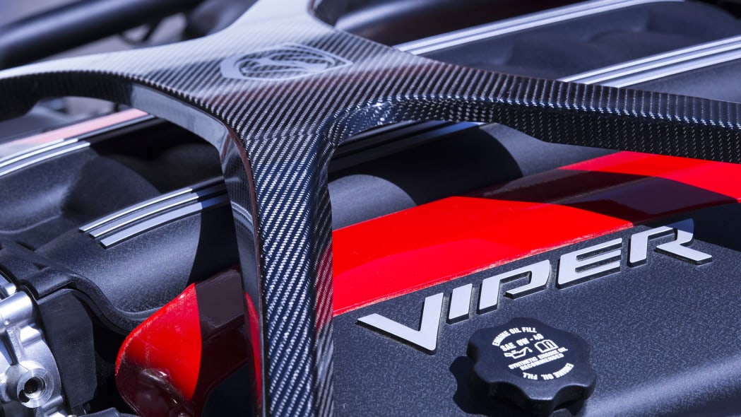 carbon fiber strut engine viper dodge