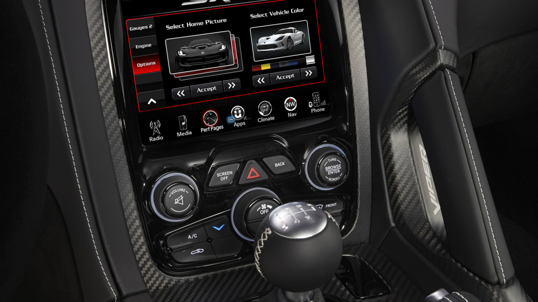 acr viper dodge console display