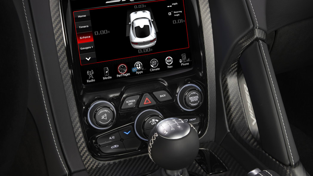console dodge viper display acr 2016