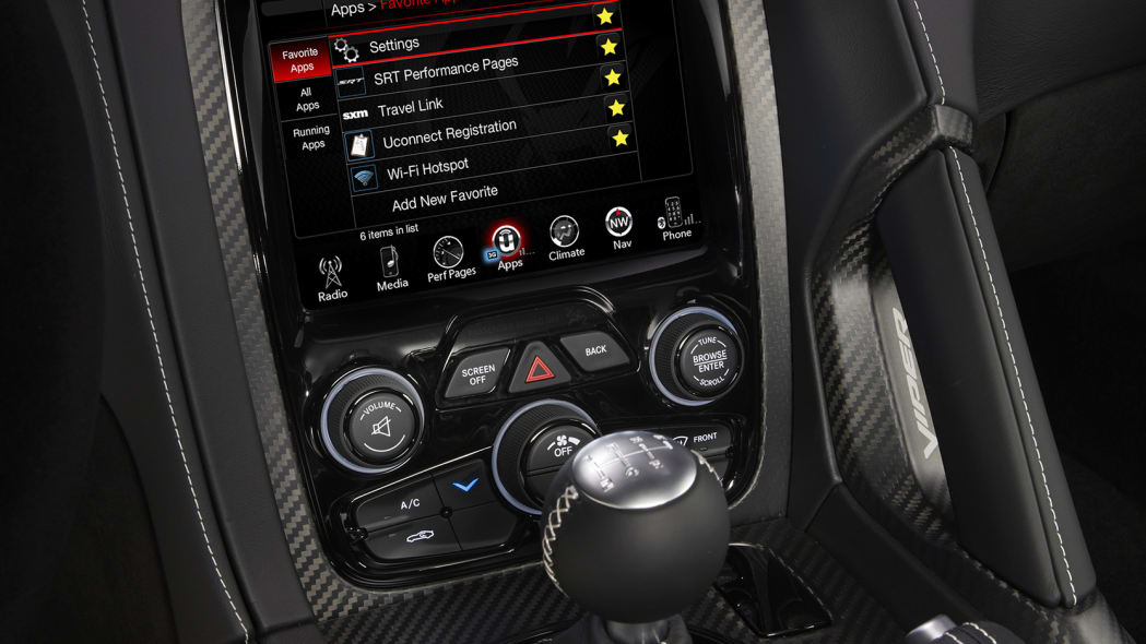 acr 2016 dodge viper display console