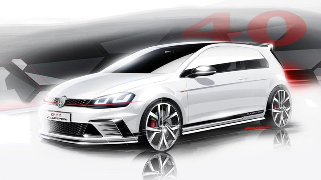 white vw gti clubsport concept front