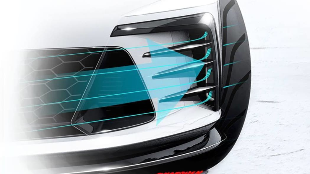 white vw gti clubsport concept front strakes detail