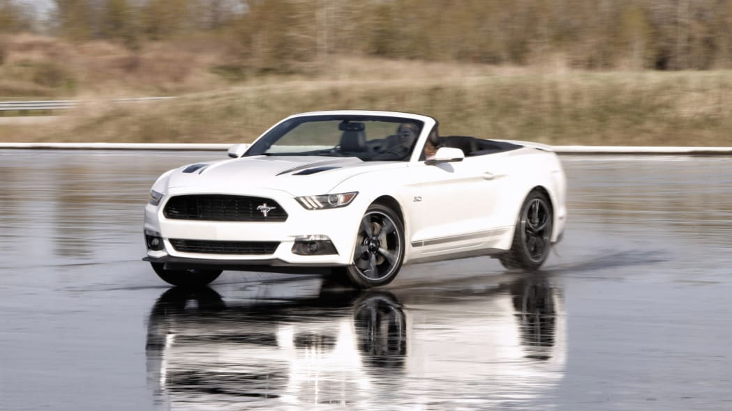 2016 Ford Mustang GT Premium California Special Package convertible moving reflection wet