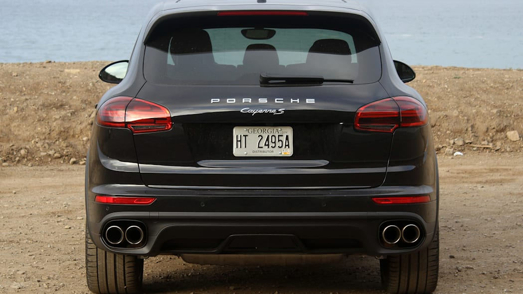 2015 Porsche Cayenne S rear view