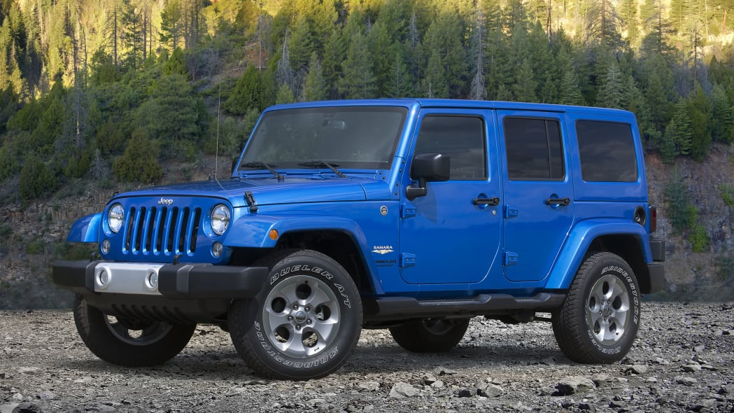 blue 2015 jeep wrangler unlimited forest