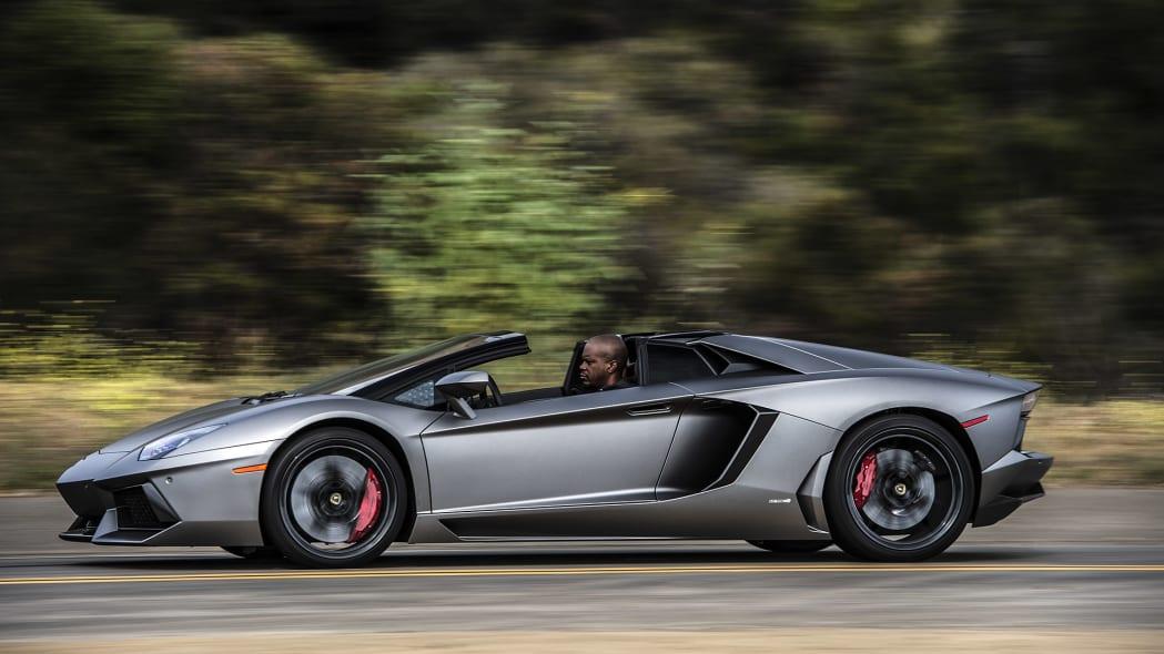 2015 Lamborghini Aventador LP 700-4 Roadster driving