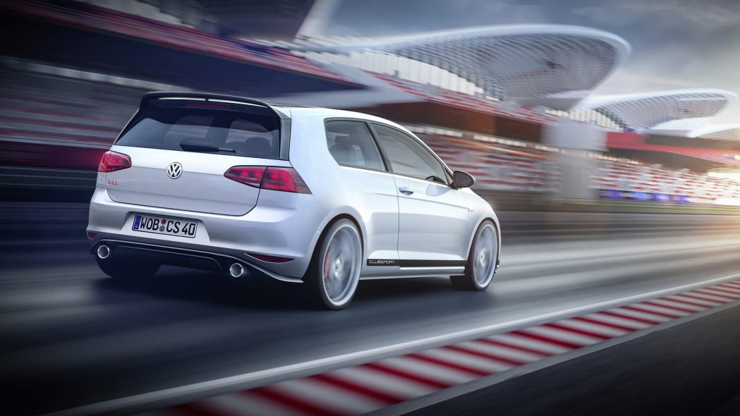 VW GTI Clubsport Concept rear 3/4