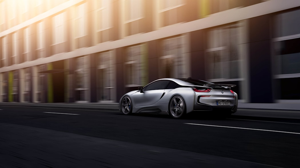 BMW i8 by AC Schnitzer rolling moving rear 3/4