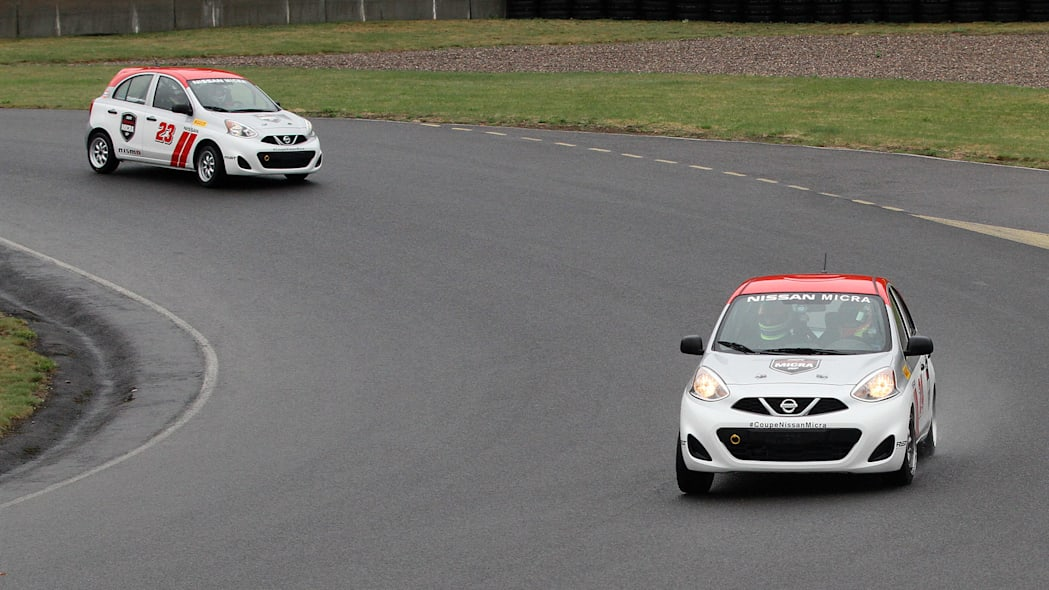 2015 Nissan Micra Cup on track