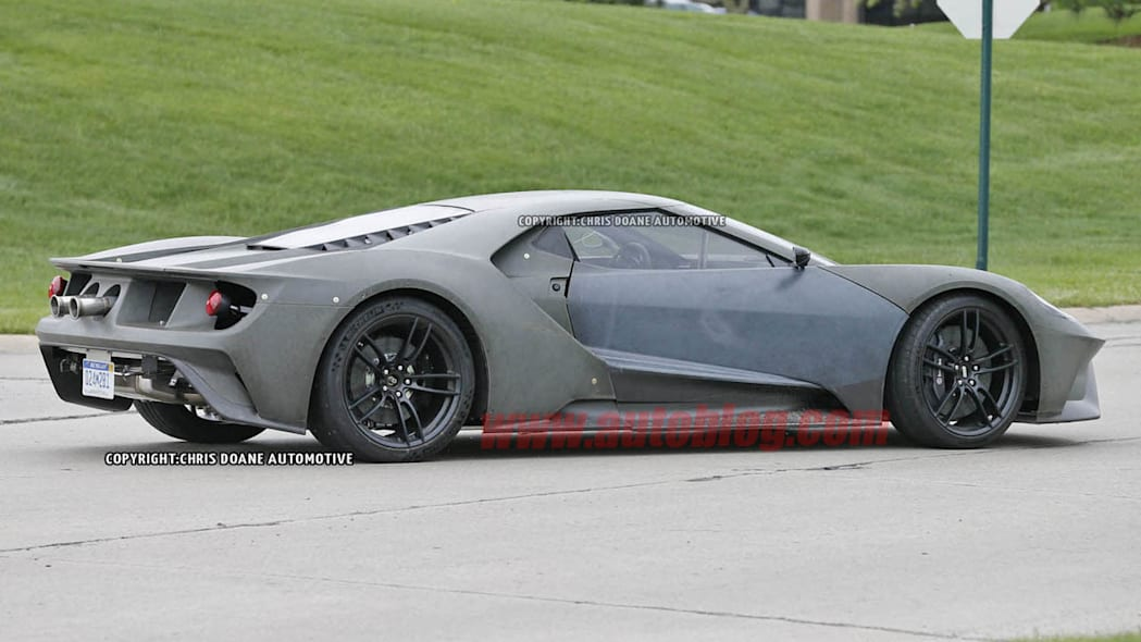 2017 Ford GT prototype stop sign