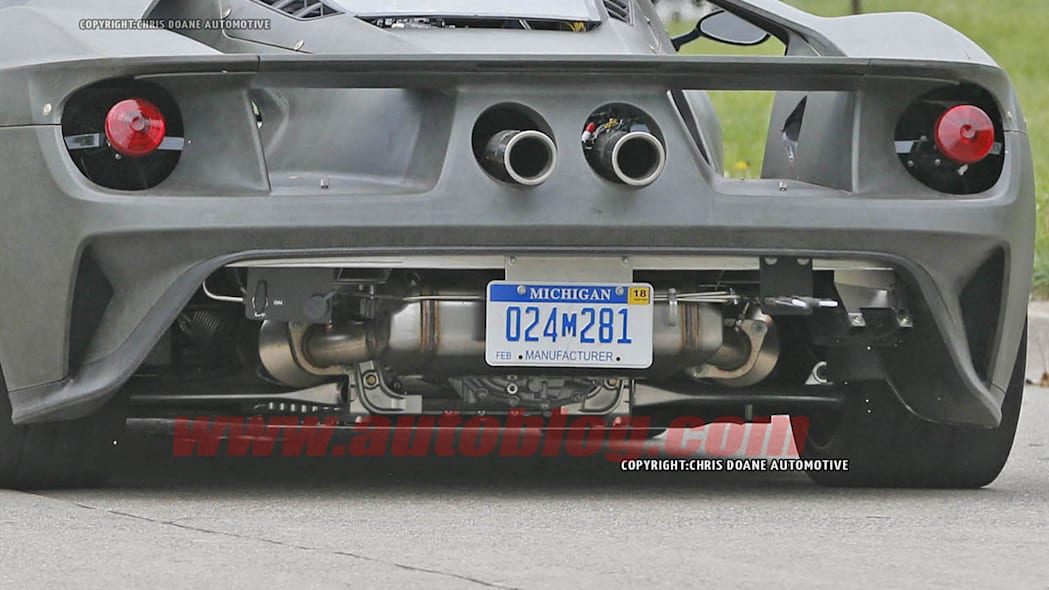 2017 Ford GT rear transaxle close up