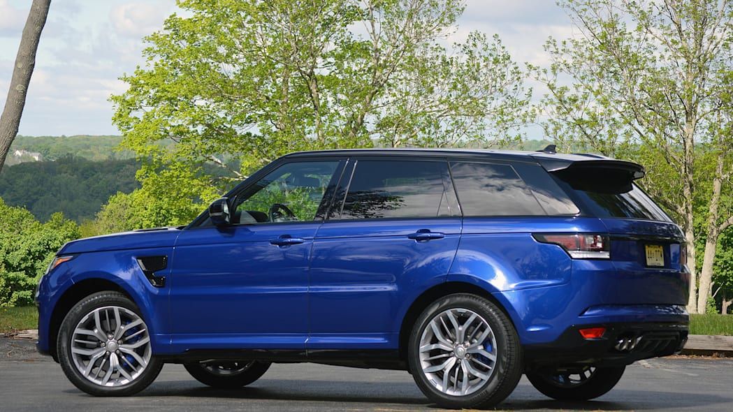 2015 Land Rover Range Rover Sport SVR rear 3/4 view