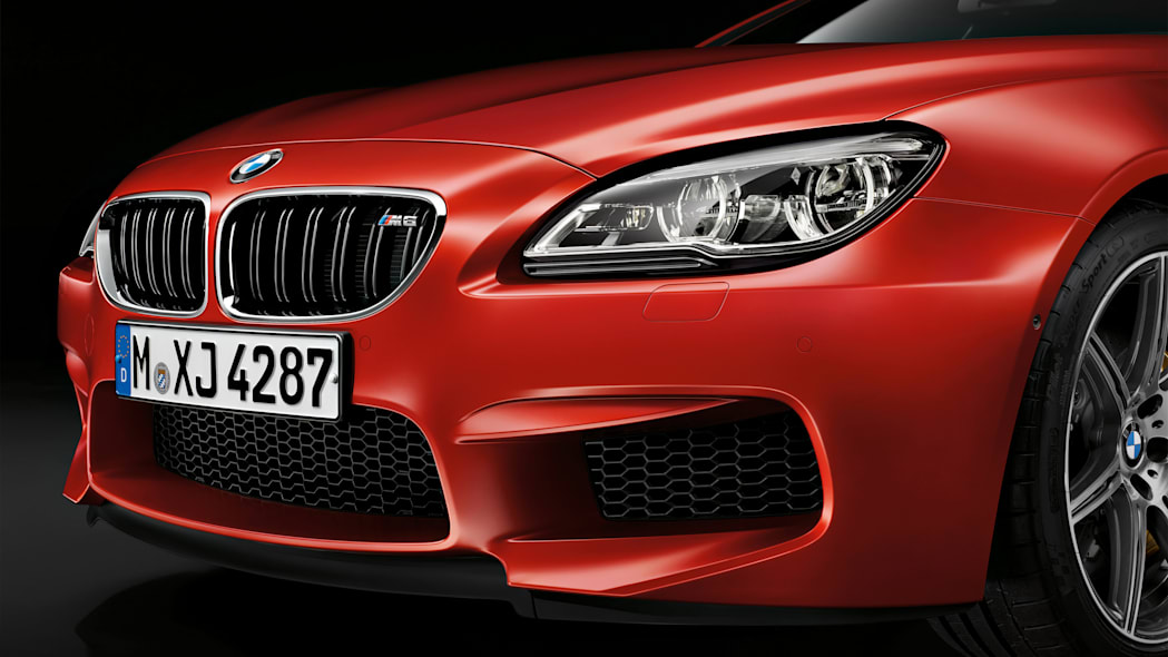 2016 BMW M6 with Competition Package front end grille headlights
