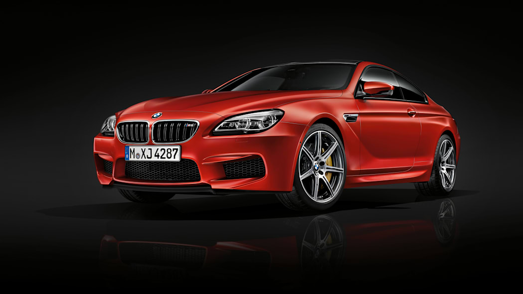 2016 BMW M6 with Competition Package red front 3/4