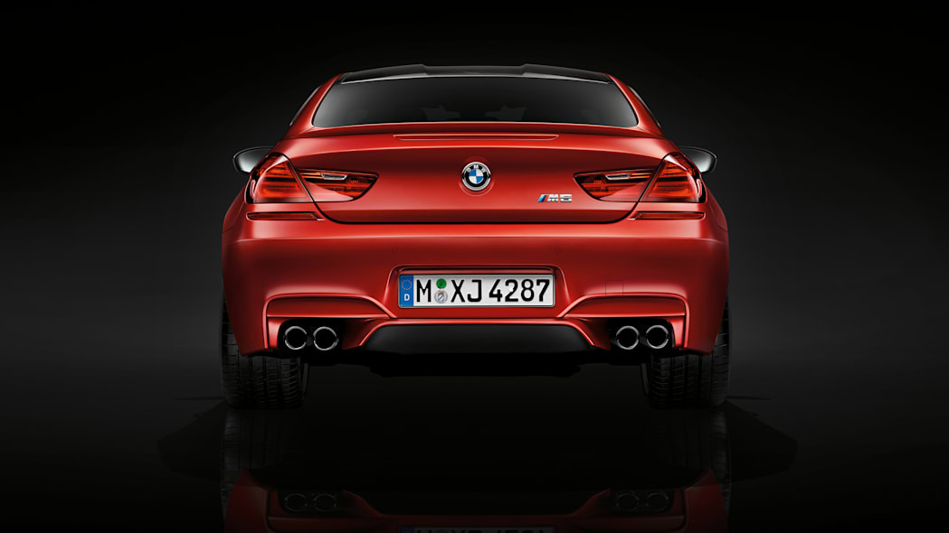 2016 BMW M6 with Competition Package red rear