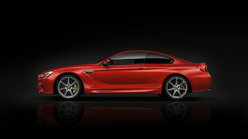 2016 BMW M6 with Competition Package red side