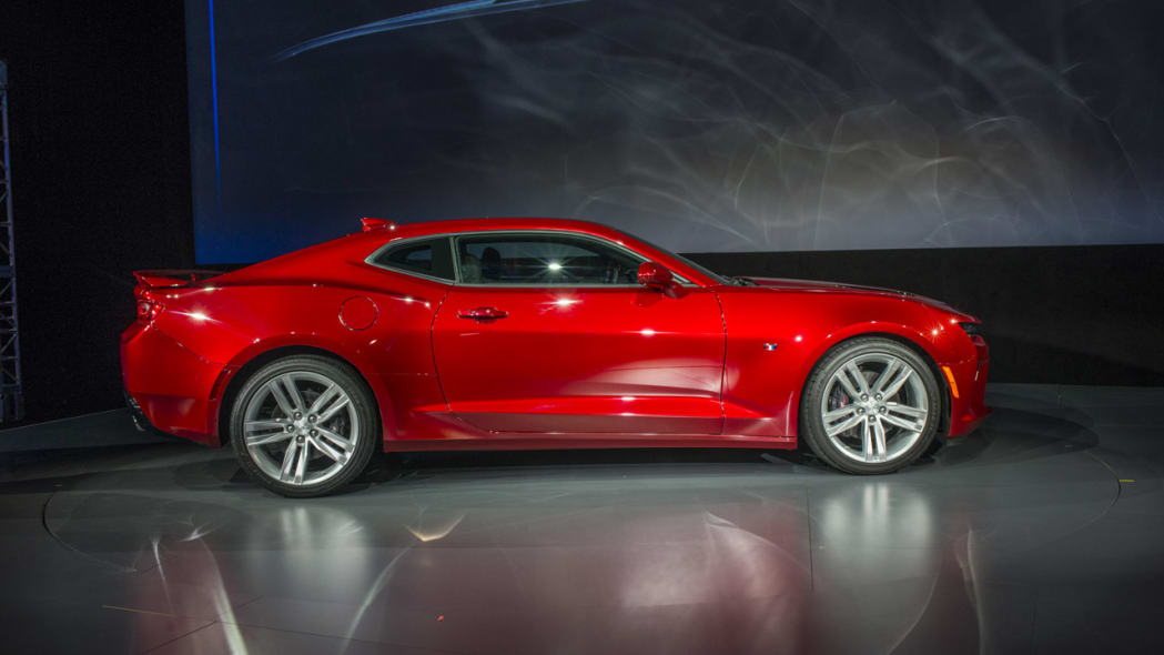 2016 chevy camaro red side profile