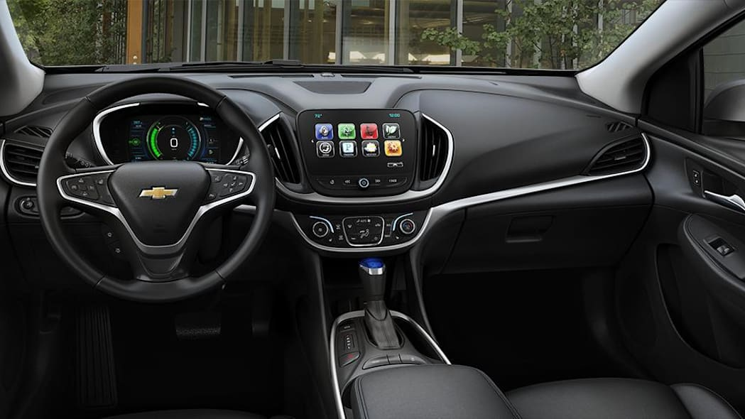 2016 Chevy Volt interior with Jet Black Leather LTZ
