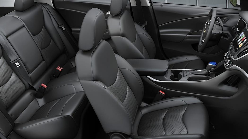 2016 Chevy Volt interior with Jet Black Leather