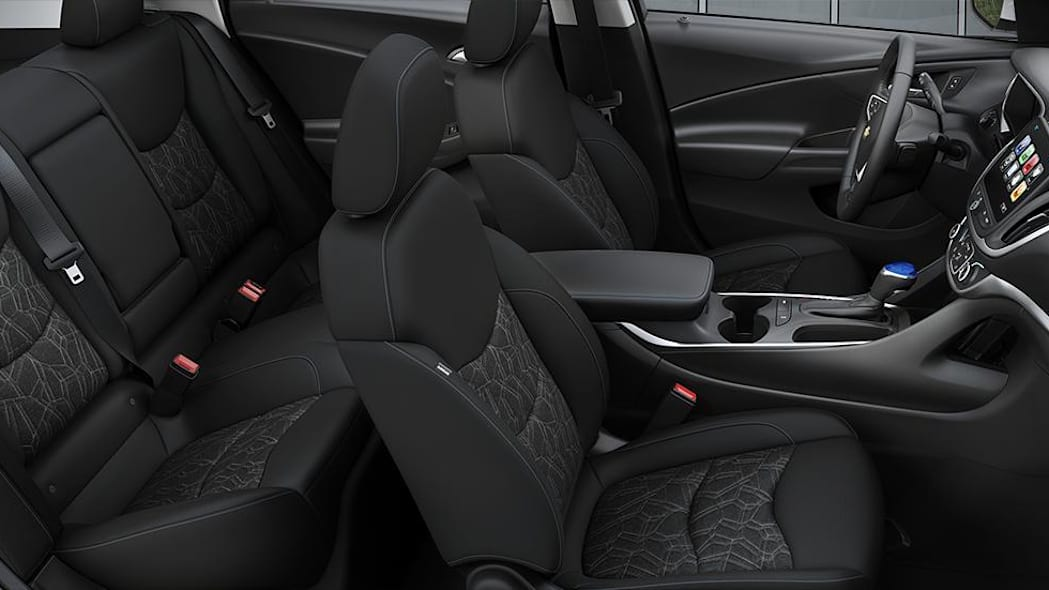 2016 Chevy Volt interior with Jet Black Cloth