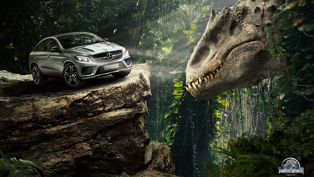 grey mercedes gle-class coupe jurassic world