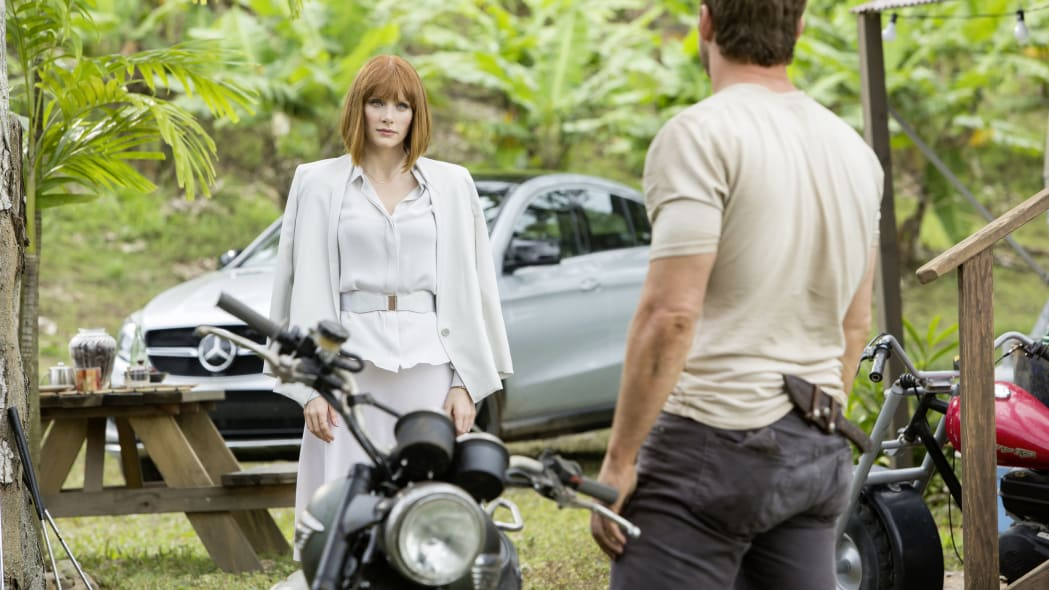 mercedes gle-class coupe with bryce dallas howard and chris pratt