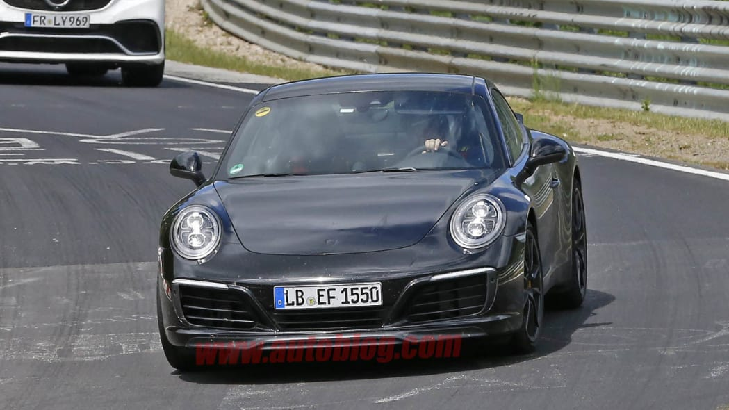 Porsche 911 spied at the Nurburgring front