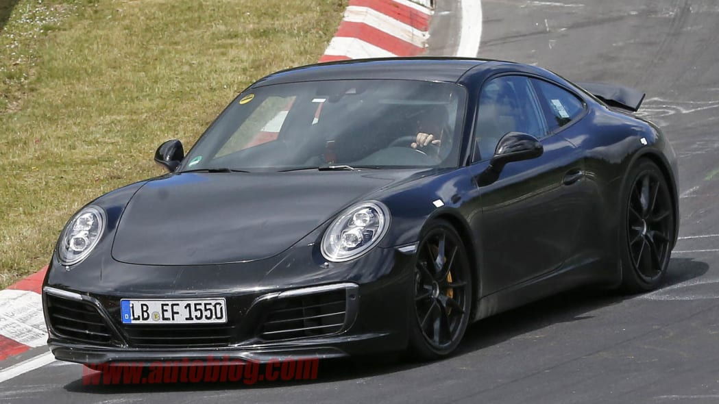 Porsche 911 spied at the Nurburgring front 3/4