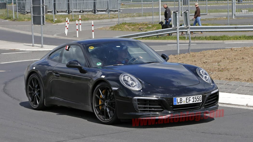 Porsche 911 testing in Germany front 3/4