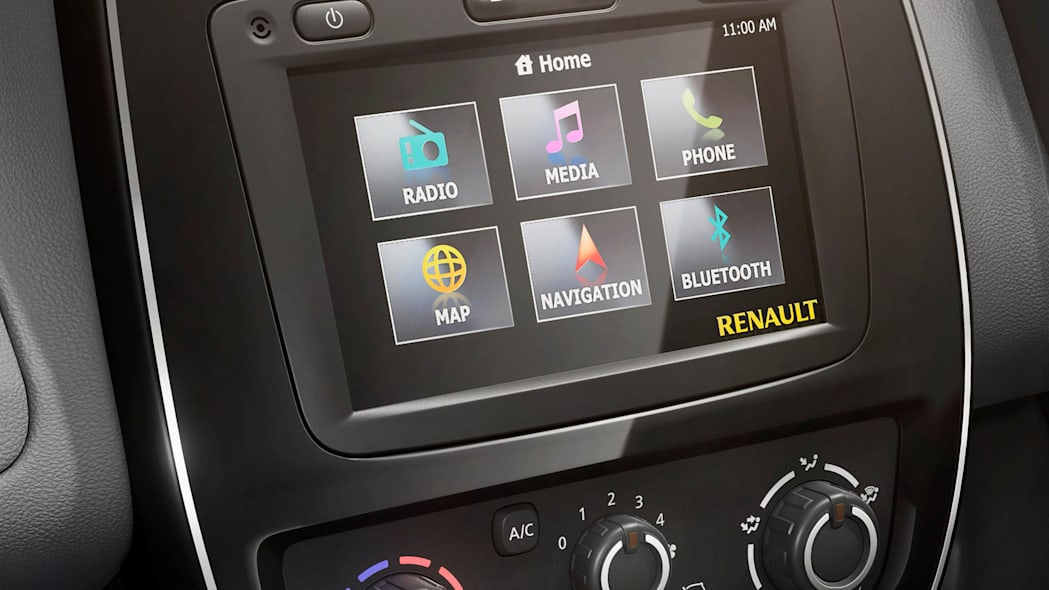 Renault Kwid center stack screen infotainment
