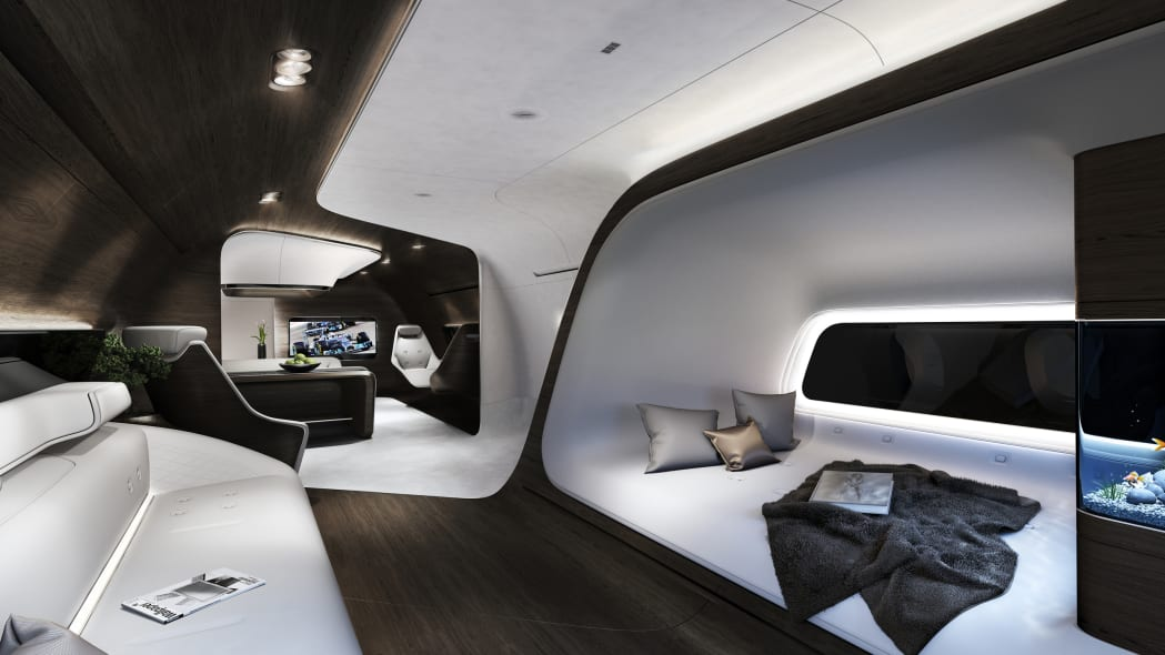 Business jet cabin by Mercedes-Benz