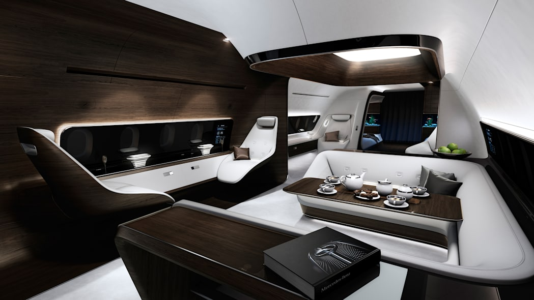 Executive jet cabin by Mercedes-Benz Style