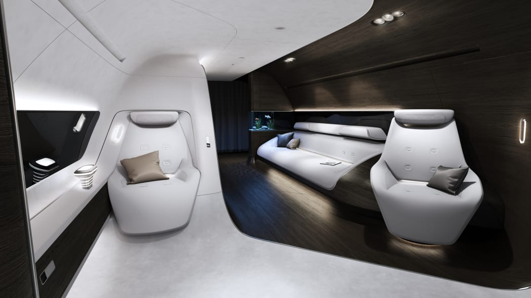 Private jet by Mercedes and Lufthansa