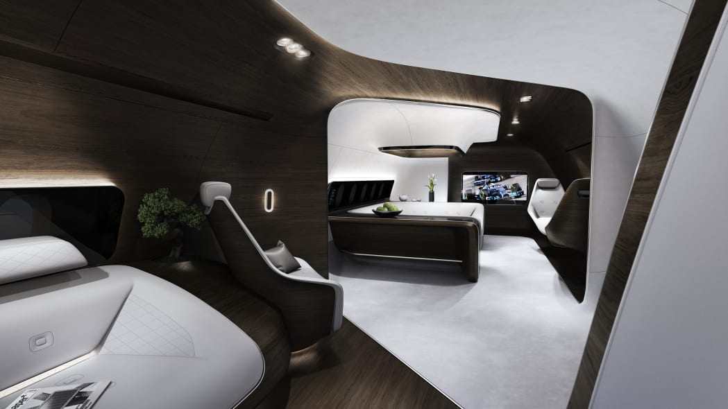 Mercedes-Benz Style private jet cabin